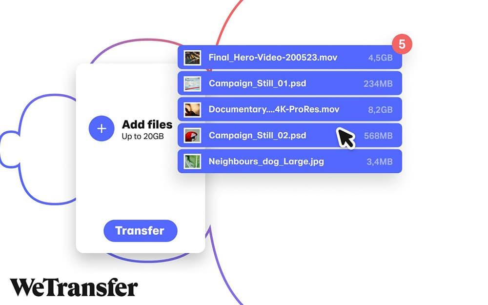 wetransfer partage fichiers