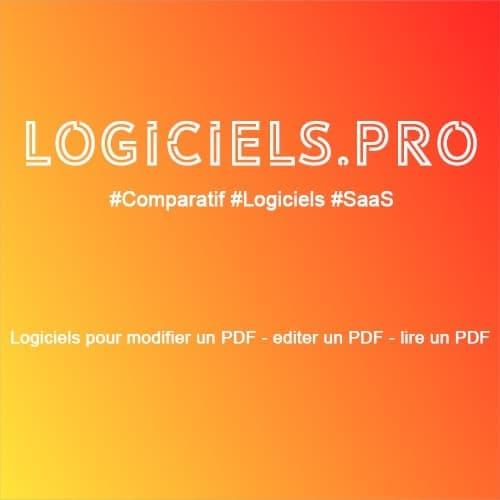 Comparateur logiciels pour modifier un PDF - éditer un PDF - lire un PDF : Avis & Prix