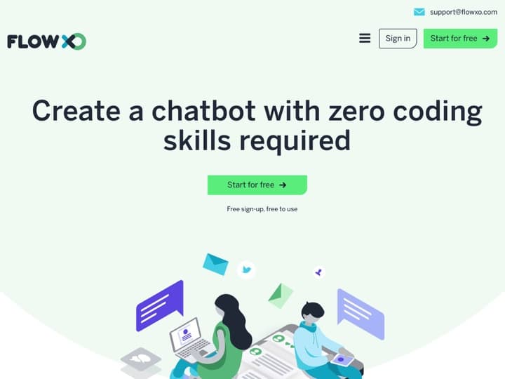 Meilleur Chatbot Open Source : Flowxo, Flowxo