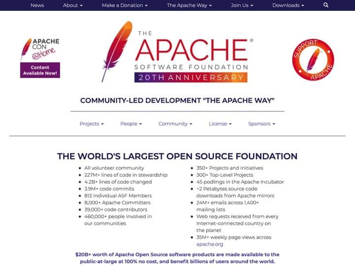 Meilleur framework d'applications : Apache, Alphasoftware