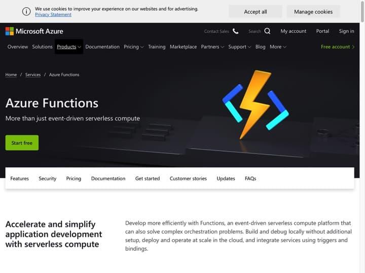 Meilleur framework sans serveur : Azure Microsoft, Iopipe