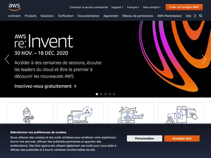 Meilleur Hébergement Web : Aws Amazon, O2Switch