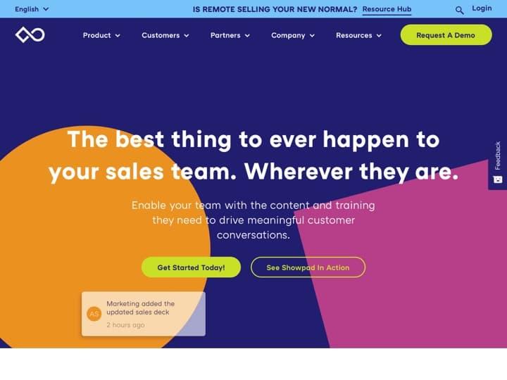 Meilleur logiciel d'activation des ventes : Showpad, Docsend