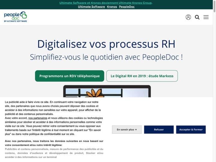 Meilleur logiciel de BDES - BDU (Base de Données Economiques et Sociales - Base de Données Unique) : People Doc, Basededonneesunique