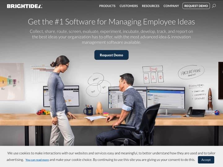 Meilleur logiciel de Brainstorming - Idéation - Innovation : Brightidea, Spigit