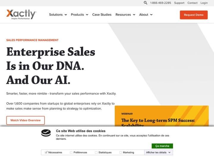 Meilleur logiciel de commission sur ventes : Xactlycorp, Qcommission