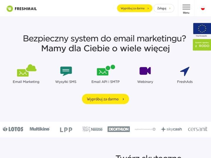 Meilleur logiciel de conception d'emails : Freshmail, Eliteemail
