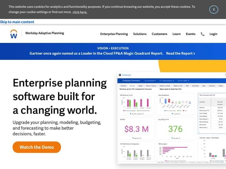 Meilleur logiciel de création de publicité : Adaptiveinsights, Viewbix