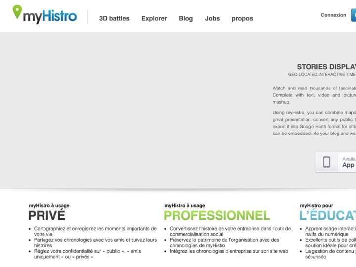Meilleur logiciel de création de timelines : Myhistro