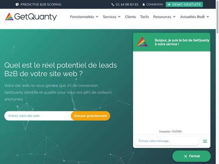 Meilleur logiciel de data marketing : Getquanty, Mediarithmics