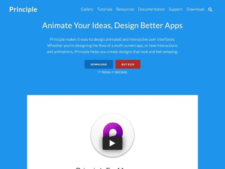 Meilleur logiciel de design d'interaction : Principleformac