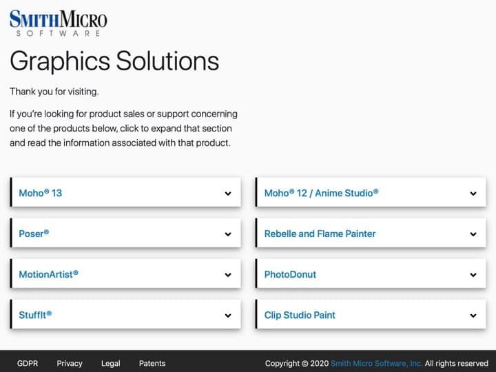 Meilleur logiciel de dessin et peinture numérique : My Smithmicro, Serif