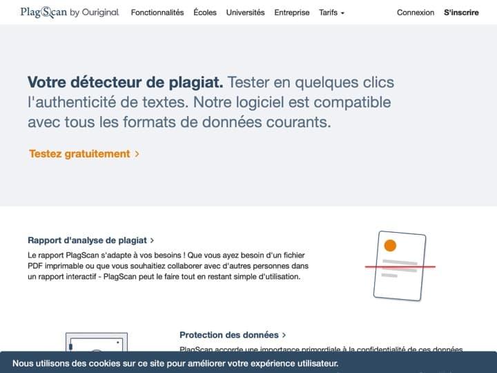 Meilleur logiciel de détection de plagiat - contenu dupliqué (duplicate content) : Plagscan, Plagiarismcheck