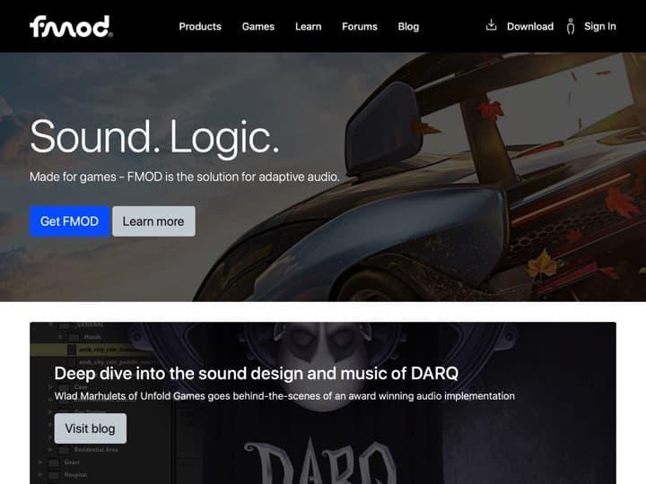 Meilleur logiciel de développement de jeux vidéo : Fmod, Unity3D