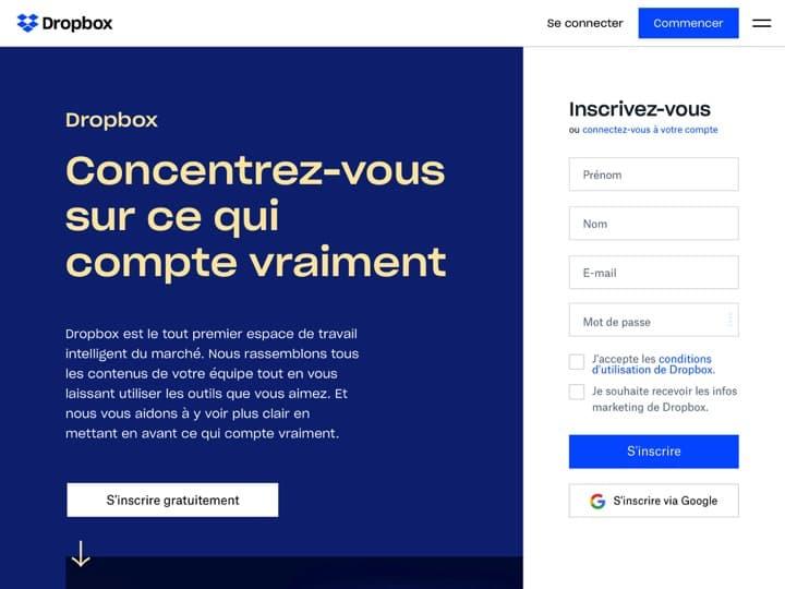 Meilleur logiciel de documents collaboratifs : Dropbox, Egnyte