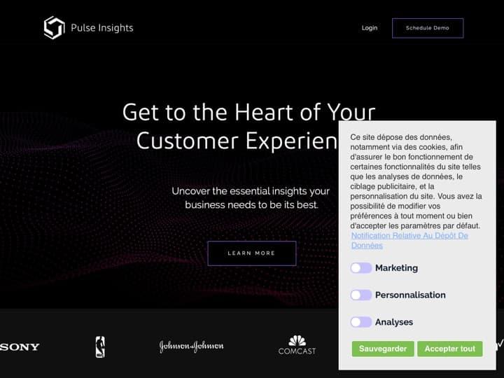 Meilleur logiciel de feedbacks utilisateurs dans une application mobile : Pulseinsights, Tooltip