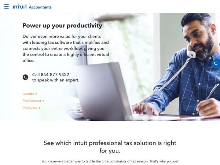 Meilleur logiciel de fiscalité et conformité : Proconnect Intuit, Taxjar