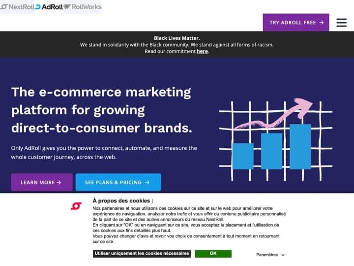 Meilleur logiciel de gestion de la publicité en ligne : Adroll, Moo