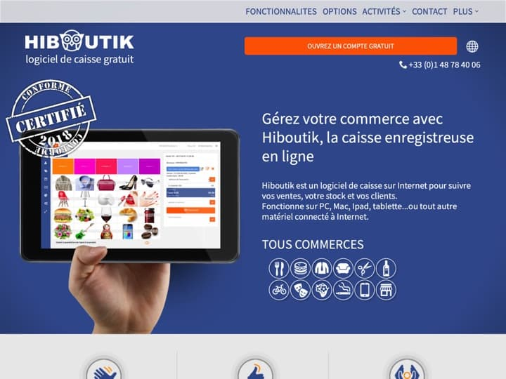 Meilleur logiciel de gestion de points de vente (POS) : Hiboutik, Rovercash