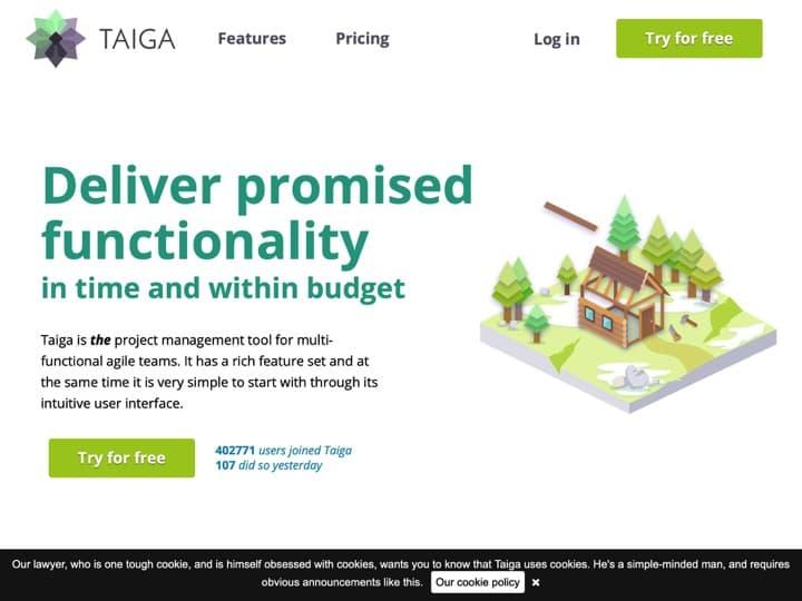 Meilleur logiciel de gestion de projets agiles : Taiga, Yodiz