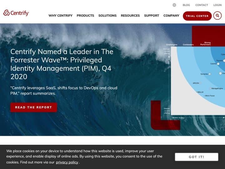 Meilleur logiciel de gestion des accès et des identités : Centrify, Okta Id