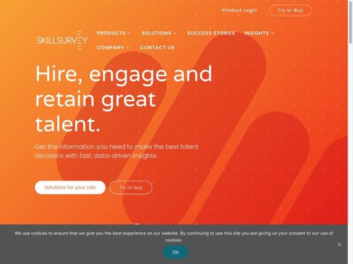 Meilleur logiciel de gestion des chèques emploi : Skillsurvey, Acquiretm