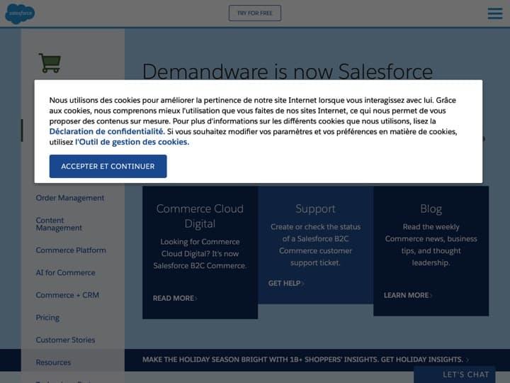 Meilleur logiciel de gestion des commandes : Demandware, Megaventory