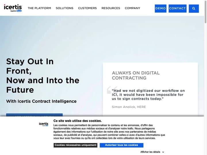 Meilleur logiciel de gestion des contacts : Icertis, Folk