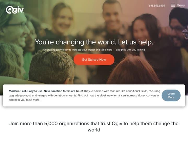 Meilleur logiciel de gestion des dons : Qgiv, Wpcharitable
