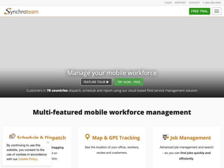 Meilleur logiciel de gestion des interventions - tournées : Synchroteam, Altagem