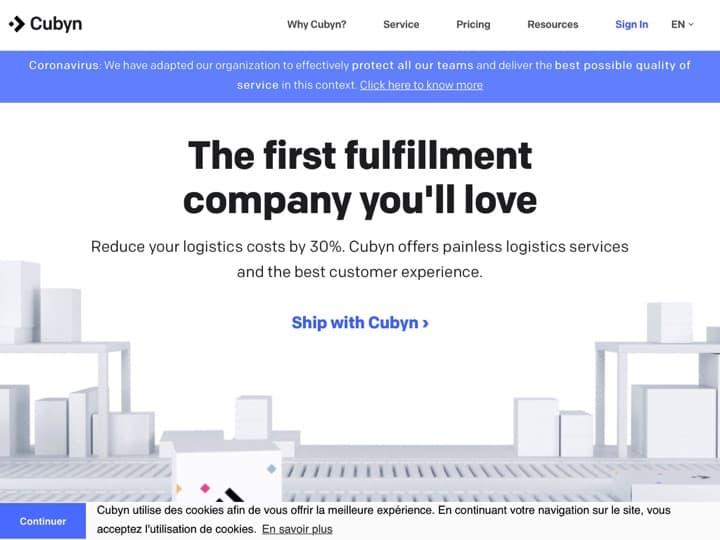 Meilleur logiciel de gestion des livraisons : Cubyn, Shipstation