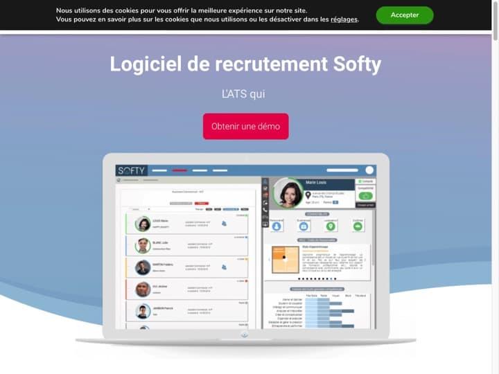 Meilleur logiciel de gestion des talents (people analytics) : Recrutement Softy, Alcuin