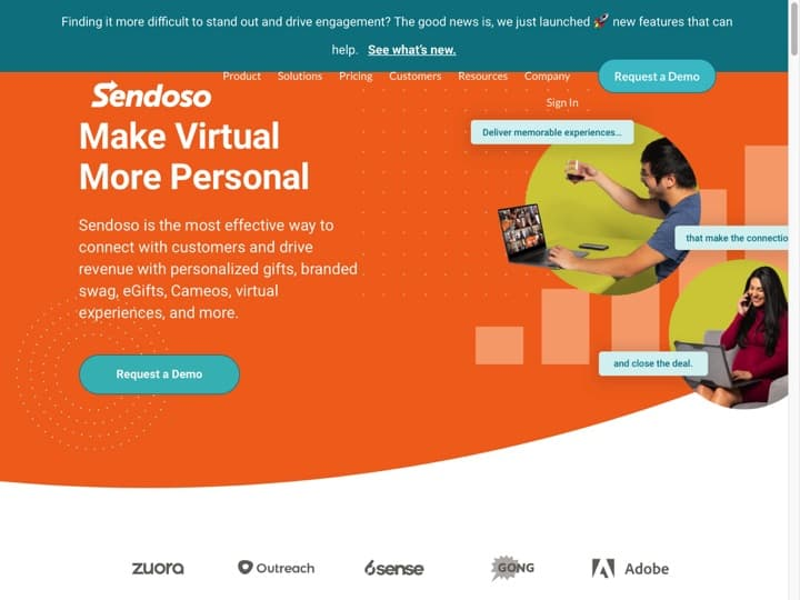 Meilleur logiciel de mail direct (snail mail marketing) : Sendoso, Directmailmanager