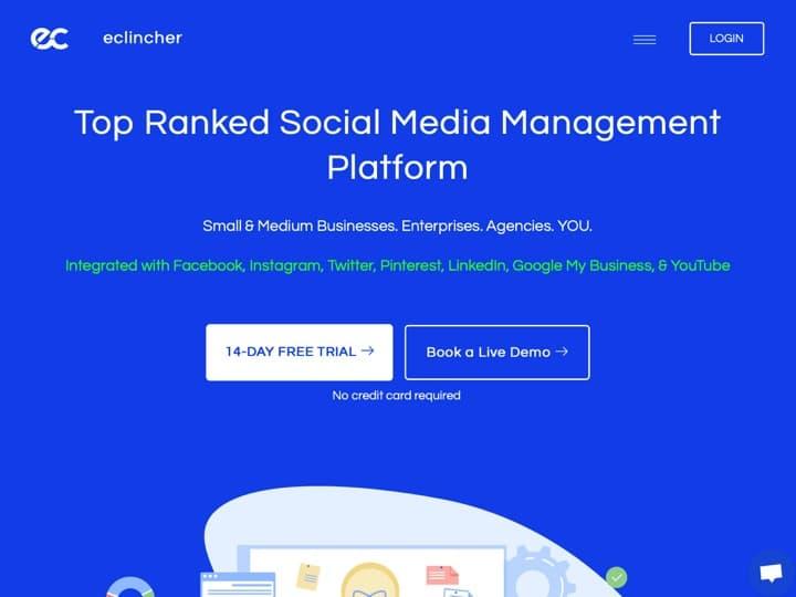 Meilleur logiciel de marketing des réseaux sociaux : Eclincher, Viralsweep