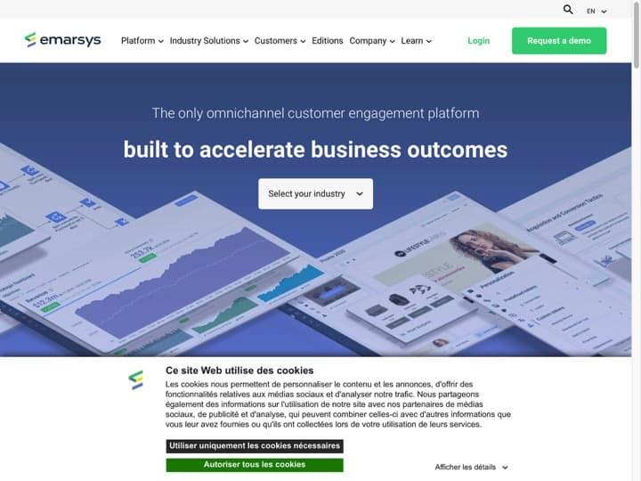 Meilleur logiciel de marketing E-commerce : Emarsys, Klaviyo