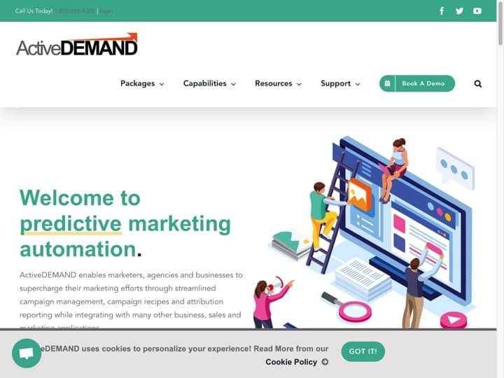 Meilleur logiciel de marketing pour petites entreprises : Activedemand, Wisepops