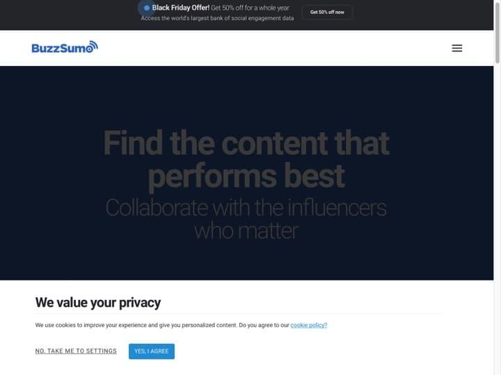 Meilleur logiciel de marketing pour Twitter : Buzzsumo, Swello