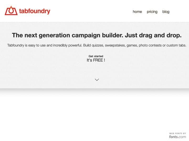 Meilleur logiciel de marketing promotionnel : Tabfoundry, Justuno