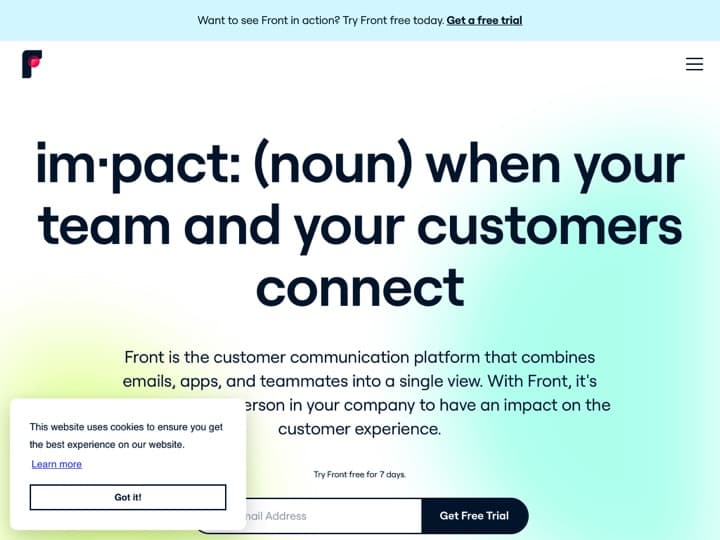 Meilleur logiciel de messagerie collaborative - clients email : Frontapp, Bluemind