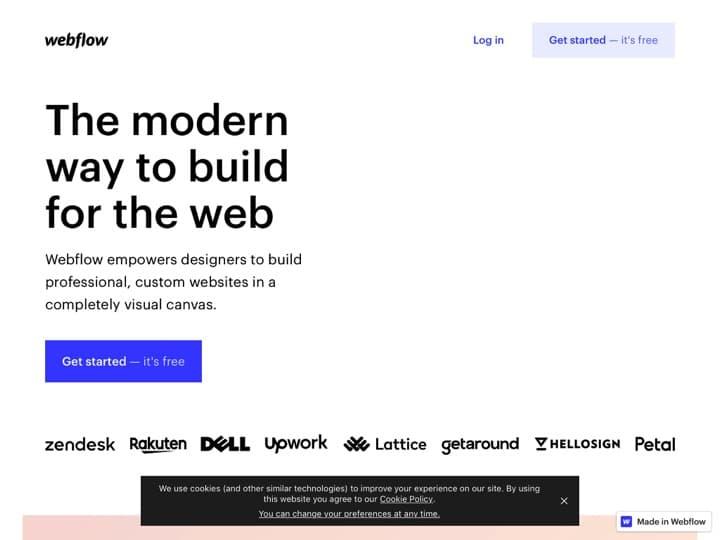 Meilleur logiciel de mockup - wireframe - maquette : Webflow, Bootstrapstudio