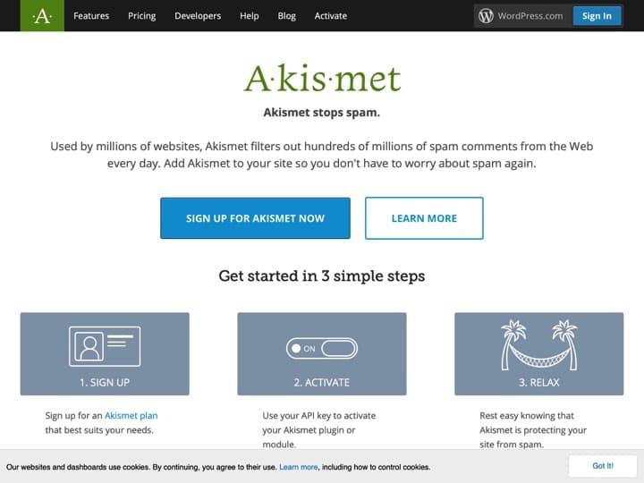 Meilleur logiciel de protection contre le spam en commentaires : Akismet