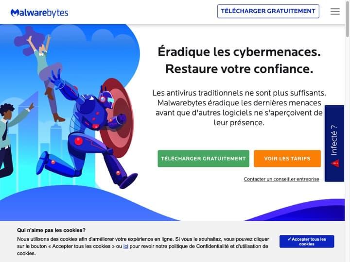 Meilleur logiciel de protection contre les logiciel malveillants (Malware) : Malwarebytes, Norton
