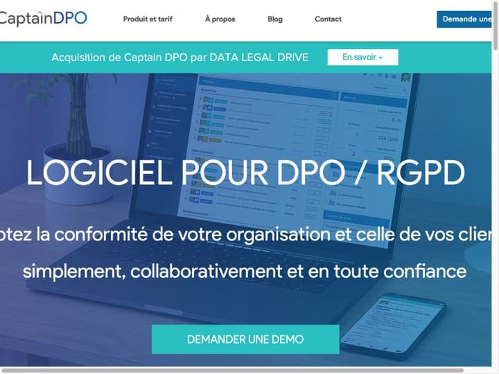 Meilleur logiciel de protection des données (RGPD) : Captaindpo, Axeptio