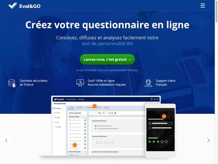 Meilleur logiciel de questionnaires - sondages - formulaires - enquetes : Evalandgo, Sentimy
