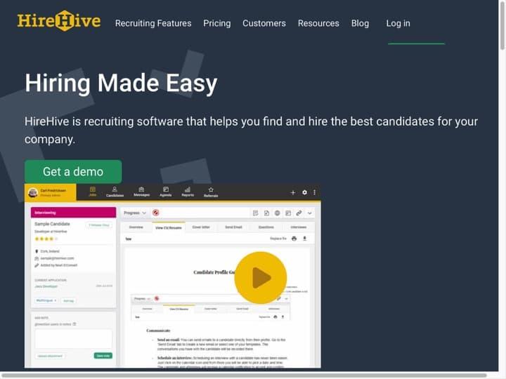 Meilleur logiciel de recrutement par parrainage : Hirehive, Hiringthing