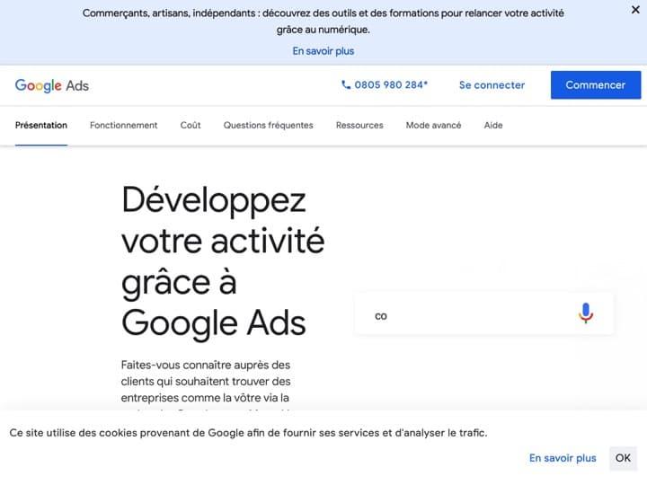 Meilleur logiciel de référencement payant : Adwords Google