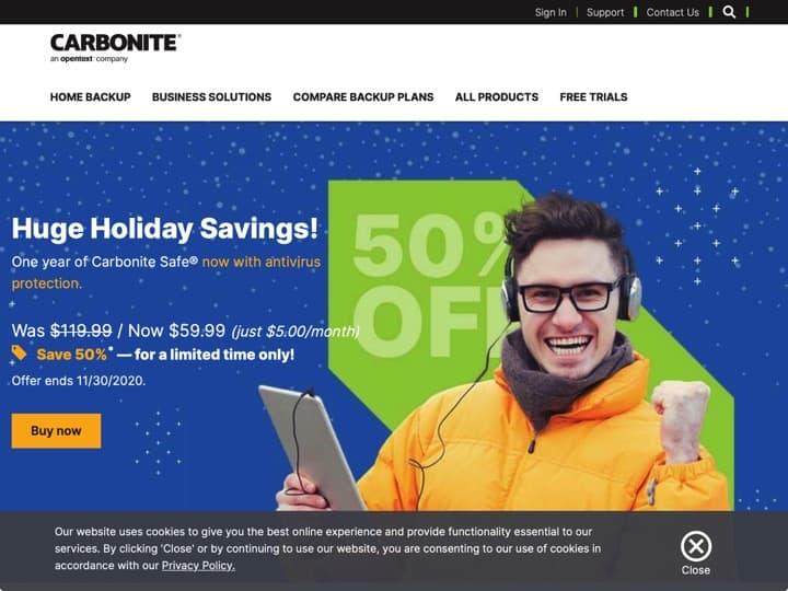 Meilleur logiciel de sauvegarde pour data center : Carbonite, Esofttools