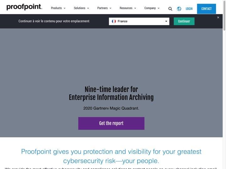 Meilleur logiciel de sécurité des emails : Proofpoint, Mcafee