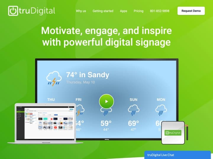 Meilleur logiciel de signalétique digitale (digital signage) : Trudigital, Trudigital