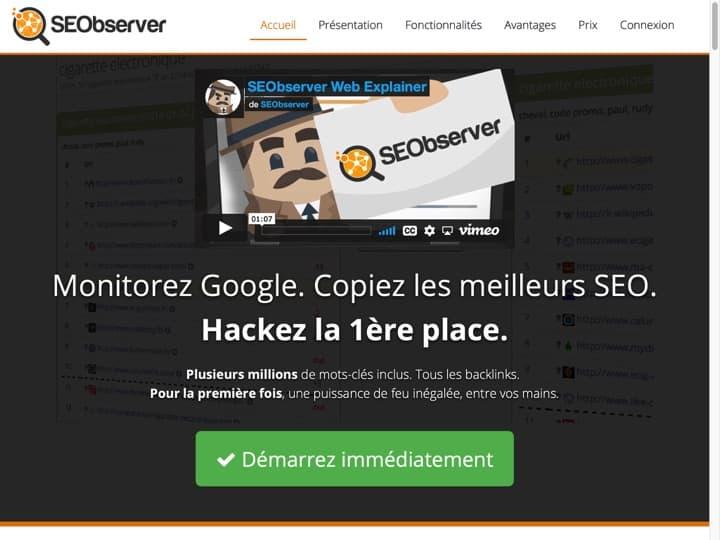 Meilleur logiciel de surveillance des liens : Seobserver, Linkody
